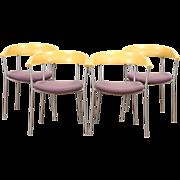 Set of 4 Midcentury Modern Style 1970's Vintage Dining Chairs, Bondo Gravesen