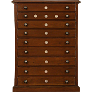 Walnut 1890 Antique 9 Drawer File, Collector Cabinet or Jewelry Chest