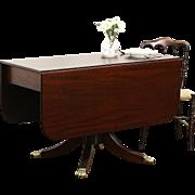Empire 1825 Antique Mahogany Dropleaf Tea, Breakfast or Sofa Table