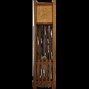 Arts & Crafts Mission Oak 1905 Antique Grandfather Clock, Signed Seth Thomas