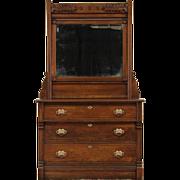 Victorian Eastlake 1885 Antique Oak Dresser or Vessel Sink Vanity