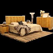 Midcentury Modern Swedish King Size 4 Pc. Bedroom Set