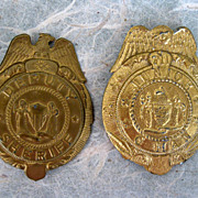 Toy Badges Sheriff And Junior G Man Pair