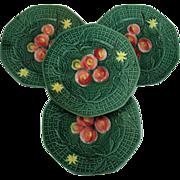 Majolica Plates Set Of 4