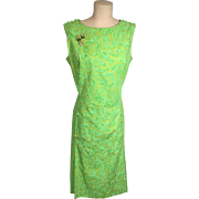 Spring Green Vintage Gina of Boca Cover Girl for Miami Dress