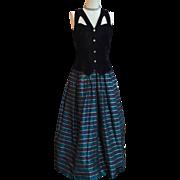 Black Velvet & Taffeta Party Dress by Jessica McClintock Gunne Sax