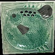 Vintage Modern Pottery Fish Ashtray