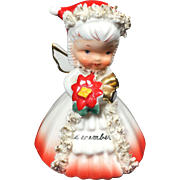1950's Napco Girl December Bell - Christmas, Birthday