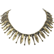 SALE Sarah Coventry Golden Atomic Choker Necklace
