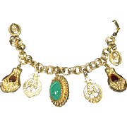 Chunky Charm Bracelet in Renaissance Style