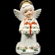 SALE Vintage December Boy Angel of the Month Japan Figurine Series 1300