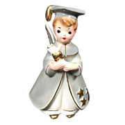 Josef Originals Boy Angel Graduate Figurine