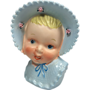 Ucagco Baby Boy Head Vase