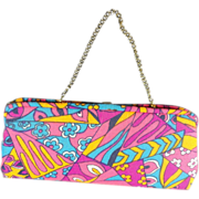 SOLD Wide Mod Bright Pocketbook Purse