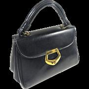 SALE Classic Grace Kelly Navy Blue Dover Vinyl Hand Bag Purse