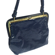 Shimmering Vintage Navy Blue Purse