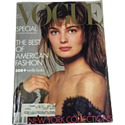 SALE September 1986 Vogue BIG Fashion Magazine
