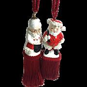 SALE Vintage Napco Shaker Christmas Ornament Tassels / Tiebacks