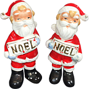 SALE NOEL Santa Claus Salt & Pepper Shakers