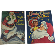 SOLD Pair Large Vintage Whitman Christmas Santa Books from 1949 & 1955