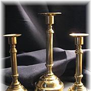 Nice Brass Candlestick Set