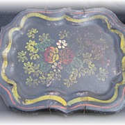 Wonderful Small Floral Tole Tray