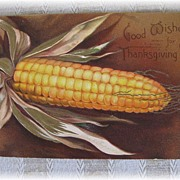 Vintage Embossed Thanksgiving Postcard