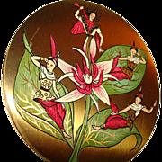 Vintage Vogue Vanities Oriental Ladies ~ Siam ~ Powder Compact ~ Most Unusual!