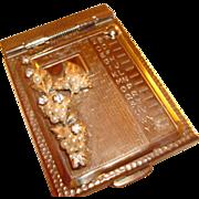 "Vintage ""Original by Robert"" Golden Telephone Directory/Address Book"" Adorned w"