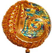 Estee Lauder Crystal and Golden Seahorse Powder Compact ~ A Very Brilliant Little Fellow!