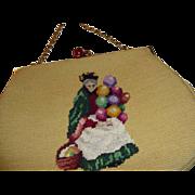Absolutely Wonderful Vintage Petit Point Purse ~ Handbag ~ Royal Doulton Design ~ The Balloon