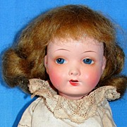 "Small 8"" Antique German bisque A. Wislizenus doll on Seeley body"
