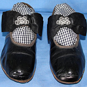 SALE Exquisite Pair of Early Vintage leather Little Girl Shoes - Superb!