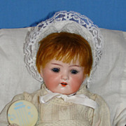 Antique Heubach*Koppelsdorf 320 Bisque Character Baby with Cradle