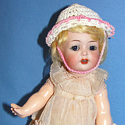 "SALE Adorable 8 1/2"" Antique K*R / Simon Halbig Character Toddler Doll #126"