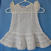 SOLD Vintage Organdy Girl's Dress: Shirley Temple Brand Cinderella Frock