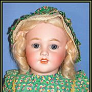 "SALE Beautiful 26"" Simon & Halbig Antique Bisque Child Doll w/ Wardrobe"