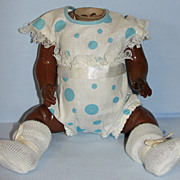 SALE German Antique Black Baby Body with Original Costume