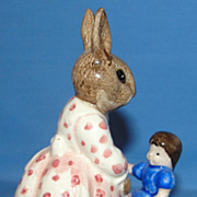 "SALE Royal Doulton Dollie Bunnykins ""Play Time"" bunny figurine"