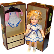"SALE 16"" Shirley Temple Composition Doll w/ Wardrobe & Trunk - All Original!"
