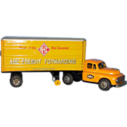 SALE 1950's  Tin Lithographed Toy Freight Truck : ABC Freight Forwarding