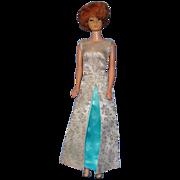 SALE 1962 Titian Bubble Cut Barbie in Fab Evening Gala Costume!