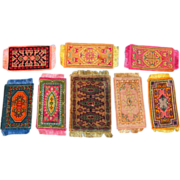 SALE 8 Antique & Vintage Oriental Dollhouse Rugs