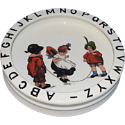 SALE Sweet Antique German Children's ABC Bowl