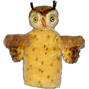 1950's Vintage Steiff Owl Hand Puppet