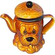 Vintage Price Kensington Character Teapot: Droopy Hound Dog with Cap ca 1970's