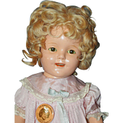 """SALE 17"""" Ideal Shirley Temple Composition Doll"""