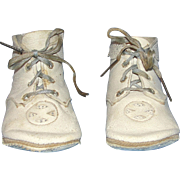 Vintage soft leather baby shoes