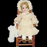 "SALE Pretty Antique German Bisque Doll - 18"" AM 390n"