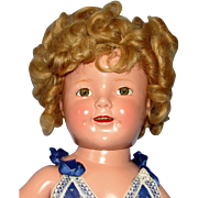 1935 Composition Shirley Temple Doll in Tagged Mint Jumper